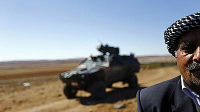 Looking on from the Turkish-Syrian border