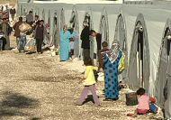 Syrian refugees shelter at Arin Mirxan camp, Turkey