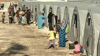 Syrian refugees shelter at Arin Mirxan camp, Turkey – nocomment