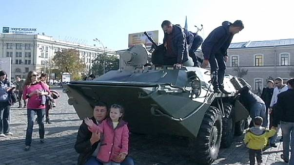 Deslocados de guerra na Ucrânia