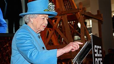 Queen personally sends her first tweet