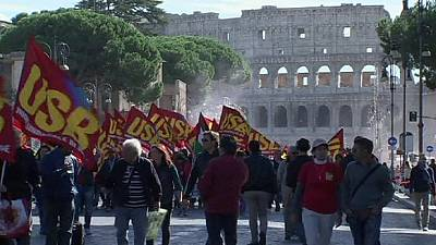 Italy: Transport workers join general strike