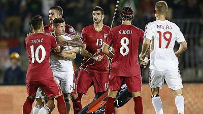 Serbia punished by Uefa