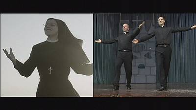 Dancing priests and singing nun follow the Lord's command to live with joy