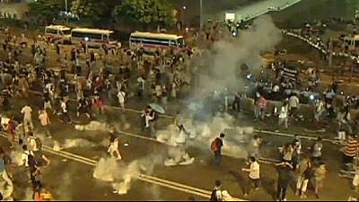 Hong Kong protesters mark one month anniversary