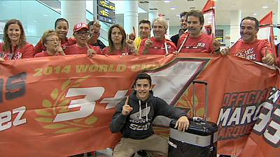 MotoGP champion Marc Marquez welcomed home after victory in Malaysia