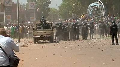 Clashes in Burkina Faso during protest against president