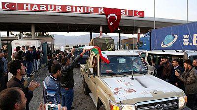 En route for Syria: Kurdish Peshmerga forces arrive in Turkey