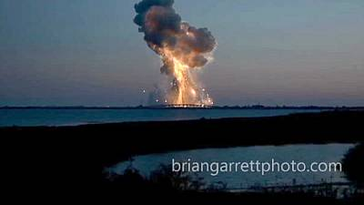Warnings about hazardous material form exploded spaceship in US