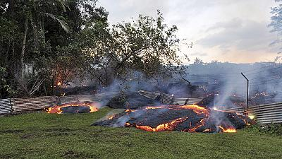 Lava bubbles its way towards homes in Hawaii