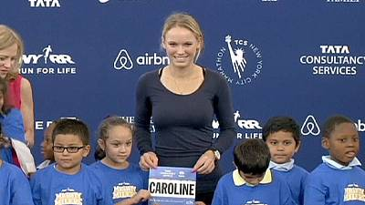 Wozniacki leaves the racket at home to run the New York Marathon