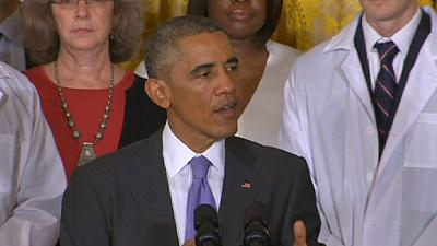 Obama confident healthcare workers can 'snuff out' Ebola outbreak