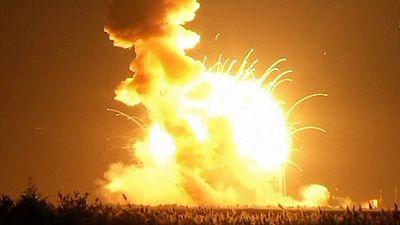 An experimental NASA rocket explodes six seconds after lift-off – nocomment