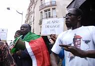 Burkina Faso opposition protest in Paris