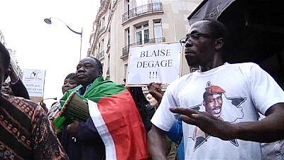 Burkina Faso opposition protest in Paris