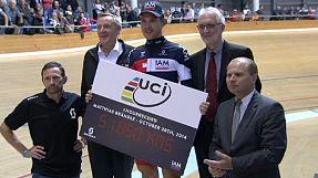 Ciclismo, nuovo record dell'ora per Matthias Brändle