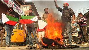Kashmir's supporters of separatist leader Yasin Malik protest against state elections