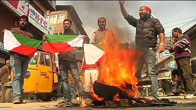 Kashmir's supporters of separatist leader Yasin Malik protest against state elections – nocomment