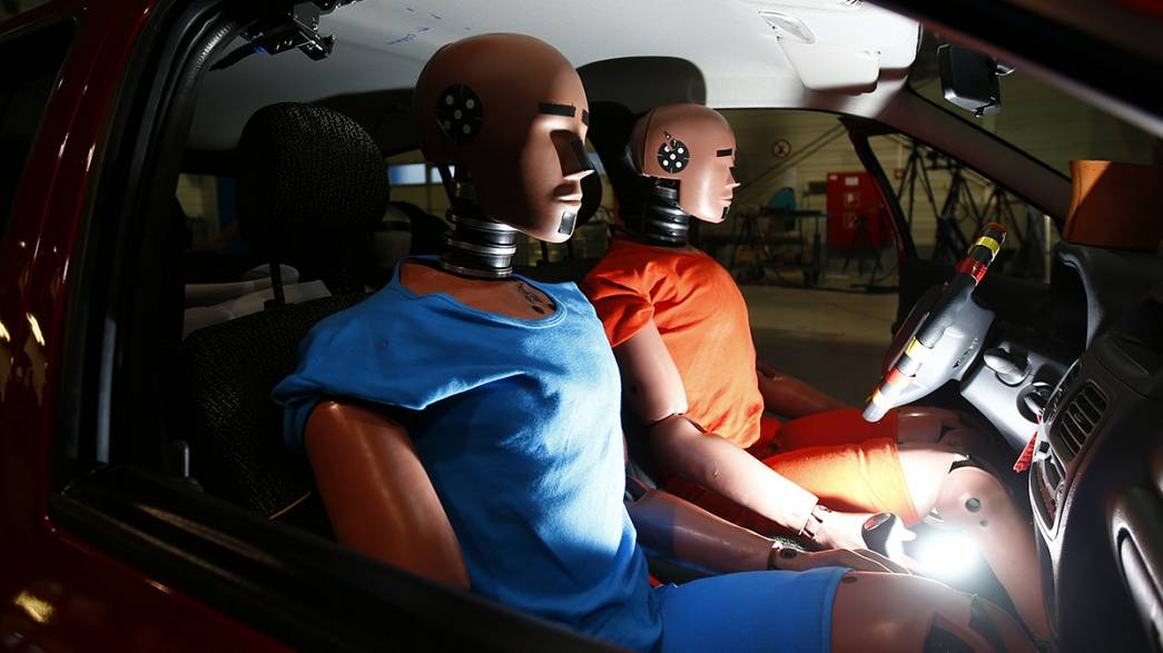 Crash-test dummies go up a size to help save obese drivers