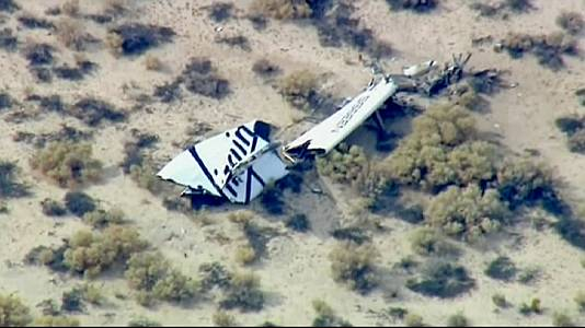 Virgin Galactic spaceship crashes on test flight