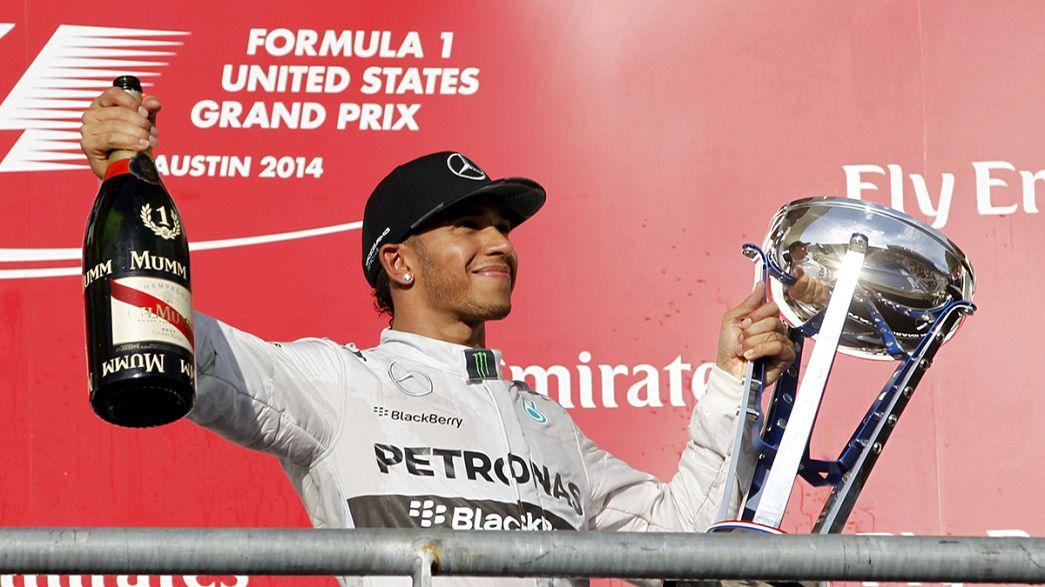 Hamilton wieder zu schnell für Rosberg
