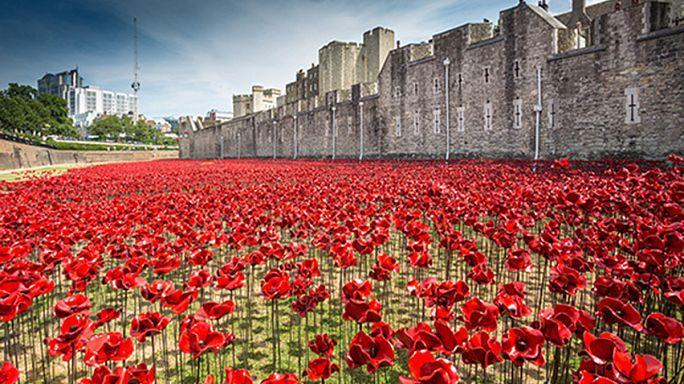 Fotos: Impresionante homenaje a los caídos en el centenario de la I Guerra Mundial
