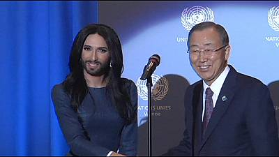 Conchita Wurst in UN call to end LGBT discrimination