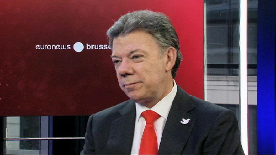 """Kolombiya Devlet Başkanı Santos: """"Silahlı siyaseti asla kabul etmeyeceğiz"""""""