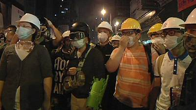Hong Kong democracy protesters clash with police