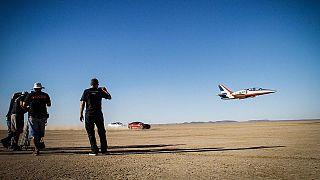 Bloodhound SSC team start desert tests