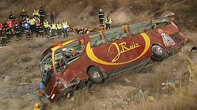 Coach crash kills at least 13 in Spain