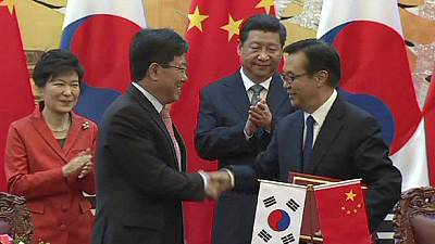 China and South Korea agree free trade deal