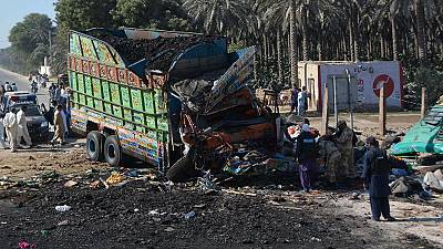 Collision between lorry and bus kills over 50 people in Pakistan