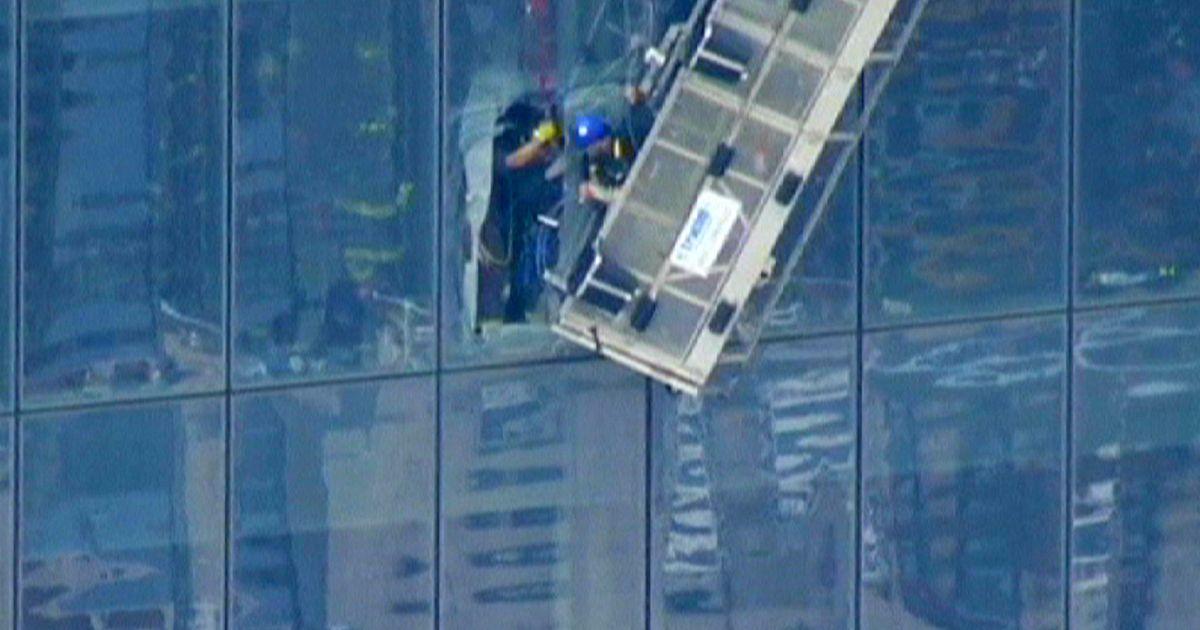 New York window cleaner drama 69 floors up | euronews, world news