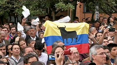 International bullfighters gather in Colombian capital to call for reopening of bullring