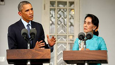 Obama criticises rules barring Aung San Suu Kyi from Myanmar presidency