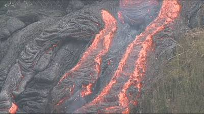 Molten lava still creeping across Hawaiian island