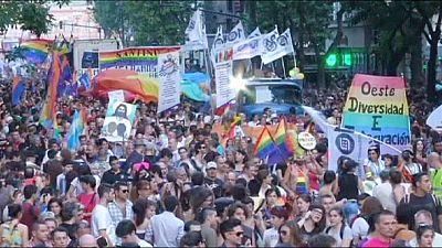استعراضات للمثليين في بيونس آيرس وسانتياغو
