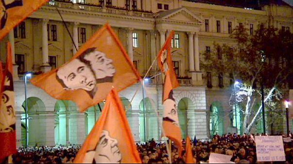 В Будапеште — пятая за три недели антиправительственная демонстрация