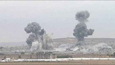 American-led forces continue air strikes in Kobani – nocomment