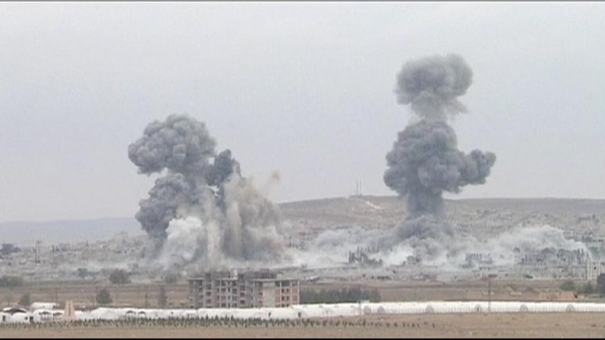 American-led forces continue air strikes in Kobani