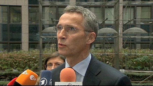 اجتماع لوزراء دفاع الاتحاد الاوروبي في بروكسل بحضور الامين العام لحلف شمال الاطلسي.