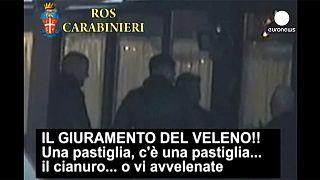 Italien: 40 Mafiosi verhaftet - erstmals Aufnahmeritual gefilmt