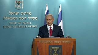 Israeli prime minister and Mahmoud Abbas condemn synagogue killings