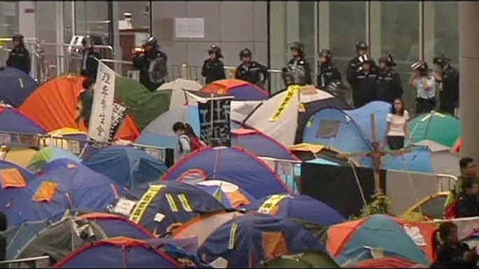 دانشجویان معترض هنگ کنگی وارد ساختمانی دولتی شدند
