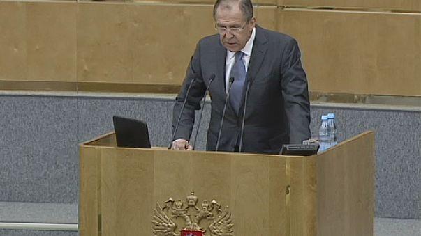 """""""Mosca, Washington e Bruxelles condannate a parlarsi"""", secondo il ministro degli esteri russo Lavrov"""