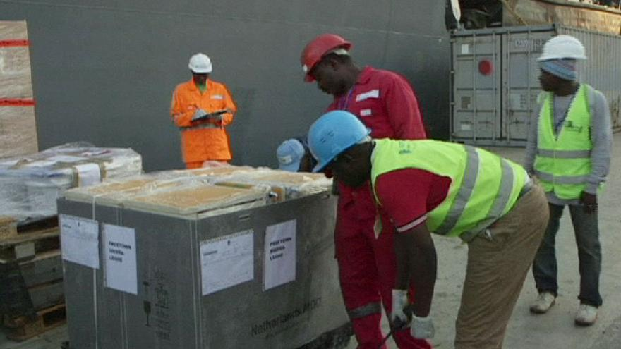 Netherlands sends relief supplies to Ebola-stricken countries