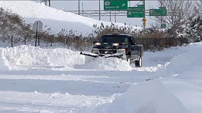 State of emergency in New York state after freak snowstorm leaves eight dead