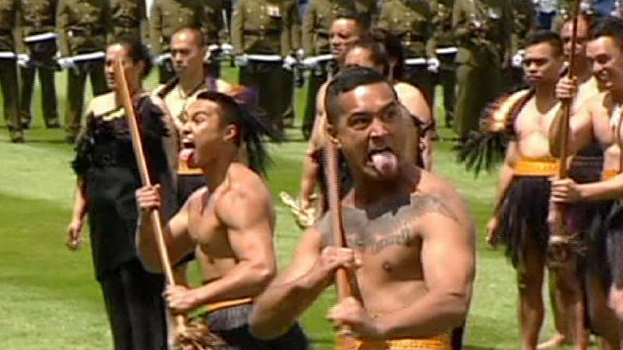 Traditional Haka welcome for China's president in New Zealand