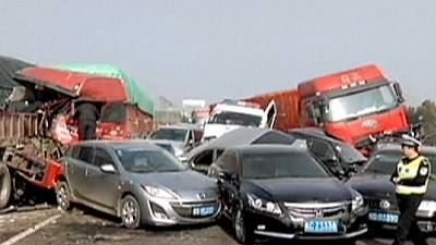 China: 2 dead and 20 injured in massive highway pile-up – nocomment